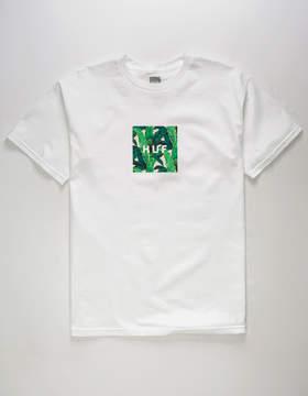 HUF Foliage Box White Mens T-Shirt