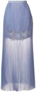 Ermanno Scervino lace panel maxi skirt