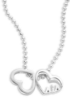 Alex Woo Little Words Sterling Silver Heart Necklace