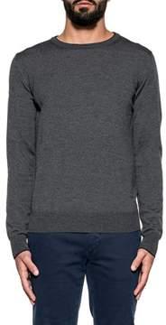 Fay Men's Grey Wool Sweater.
