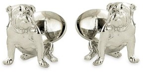 David Donahue Men's 'Bulldog' Sterling Silver Cuff Links