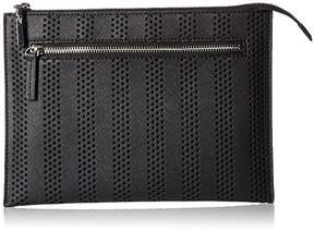 Milly Stripe Perforated Flat Clutch