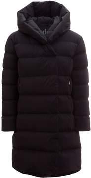 ADD Long Hooded Wrap Collar Coat