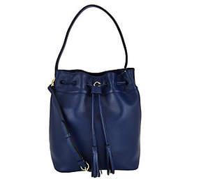 C. Wonder Pebble Leather Drawstring Bucket Handbag