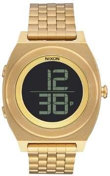 Nixon Time Teller Digi A948-502-00 Gold Stainless Steel Digital Quartz Men's Watch