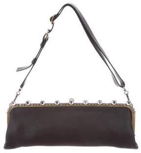 Miu Miu Embellished Leather Pochette
