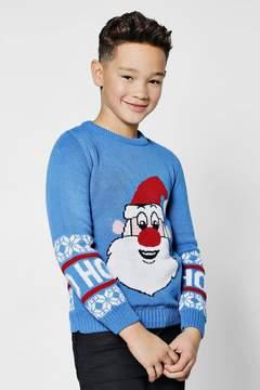 boohoo Boys Santa Christmas Jumper