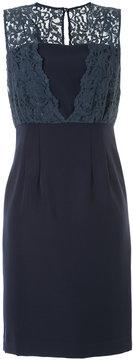 ESTNATION lace strap shift dress