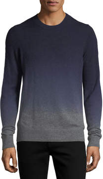 Neiman Marcus Cashmere Dip-Dyed Sweater