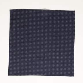 Blade + Blue Japanese Indigo Dyed Navy Circle Print Pocket Square