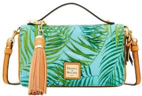 Dooney & Bourke Siesta Coated Cotton Willis Clutch Sammi Tassel Wallet - CARIBBEAN BLUE - STYLE
