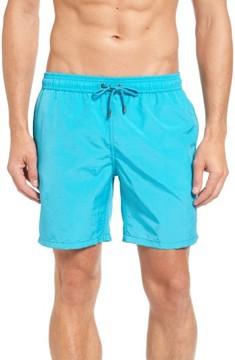 Mr.Swim Men's Cerulean Solid Swim Trunks