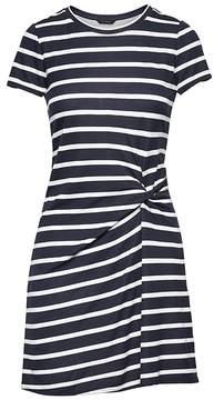 Banana Republic Stripe Soft Ponte Twist-Front Dress