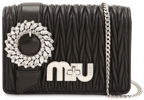 Miu Miu Med My Miu Buckle Quilted Leather Bag