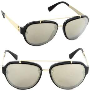 Versace Men's VE4327 VE/4327 GB1/5A Black/Gold Pilot Sunglasses 57mm