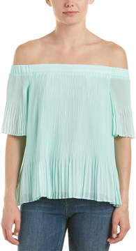 Do & Be DO+BE Do + Be Off-The-Shoulder Accordion Pleated Top