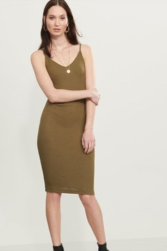 Dynamite Ribbed Midi Slip Dress