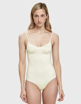 Base Range Baserange Soft One Piece Swimsuit in Off White