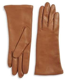 Lord & Taylor Three Button Leather Gloves
