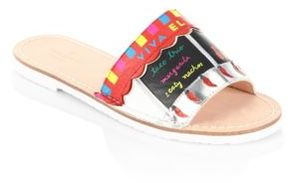 Kate Spade Illi Metallic Leather Slides