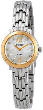 Seiko Tressia Sollar Crystal Ladies Watch