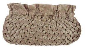 Reiss Nylon Basket Weave Clutch