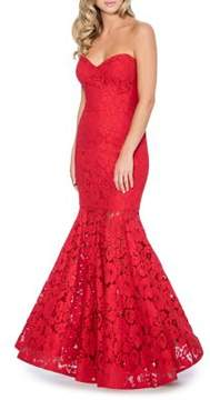Decode 1.8 Lace Strapless Mermaid Gown
