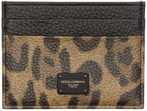 Dolce & Gabbana Tan Leopard Card Holder