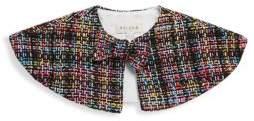 Helena Little Girl's Tweed Cape Jacket