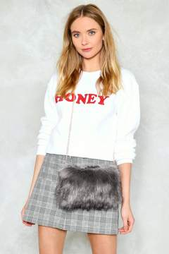 Nasty Gal WANT Feelin' Myself Faux Fur Crossbody Bag