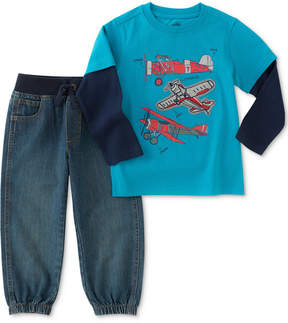 Kids Headquarters 2-Pc. Airplane Graphic-Print Shirt & Jogger Pants Set, Toddler Boys (2T-5T)