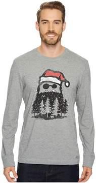 Life is Good Holiday Beard Long Sleeve Crusher Tee Men's Long Sleeve Pullover