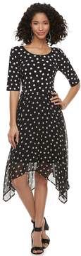 Elle Women's Printed Handkerchief A-Line Dress
