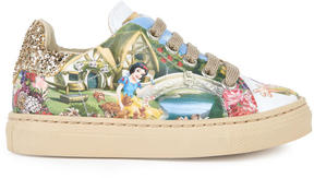 MonnaLisa Snow White print sneakers