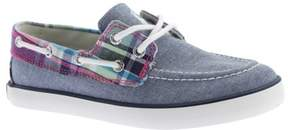 Polo Ralph Lauren Girls' Sander Canvas Boat Shoe - Big Kid
