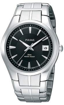 Pulsar Men's Basic Dress Watch - Silver Tone with Luminous Hands - PXH913