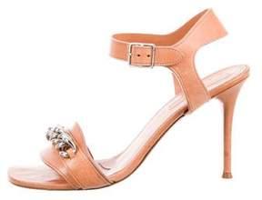 Celine Chain-Link Ankle Strap Sandals