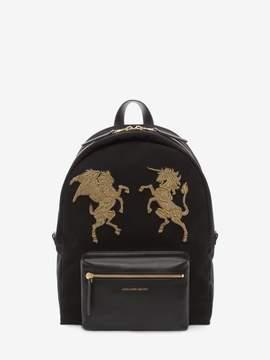 Alexander McQueen Embroidered Bullion Backpack