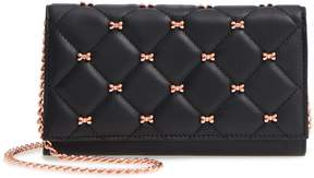 Ted Baker Quilted Bow Leather Matinee Wallet on a Chain