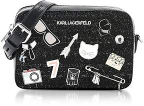 Karl Lagerfeld Black K/Klassik Pins Camera Bag