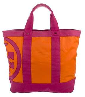Tory Burch Canvas-Trimmed Nylon Tote - ORANGE - STYLE