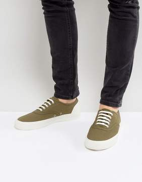 Fred Perry Barson Canvas Sneakers in Olive