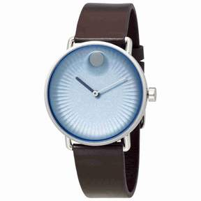 Movado Edge Sandblasted Blue Aluminum Dial Men's Watch 3680040