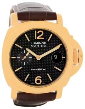 Panerai Luminor Marina PAM00140 18K Yellow Gold Automatic 44mm Mens Watch