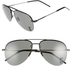 Saint Laurent Women's 59Mm Aviator Sunglasses - Black/ Grey
