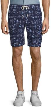 Michael Bastian Men's Printed Cotton Drawstring Shorts
