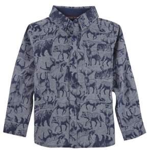 Andy & Evan Infant Boy's Animal Print Woven Shirt