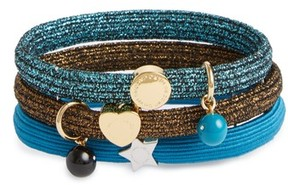 Marc Jacobs Set Of 3 Icon Ball Charm Ponytail Holders