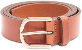 MAISON KITSUNÉ Logo-debossed leather belt