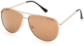 Tommy Hilfiger Gold-Tone Jordan Aviator Sunglasses
